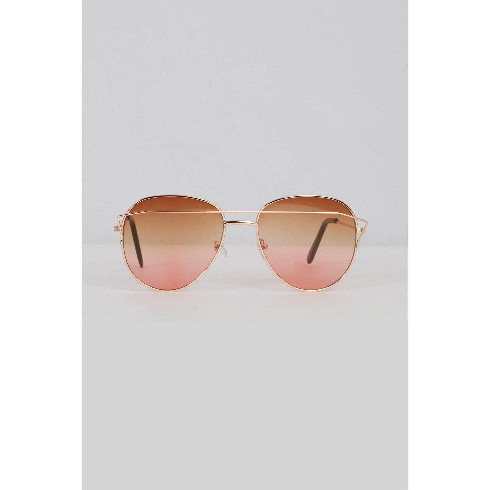 Image of Aviator Pink Lens Sunglasses