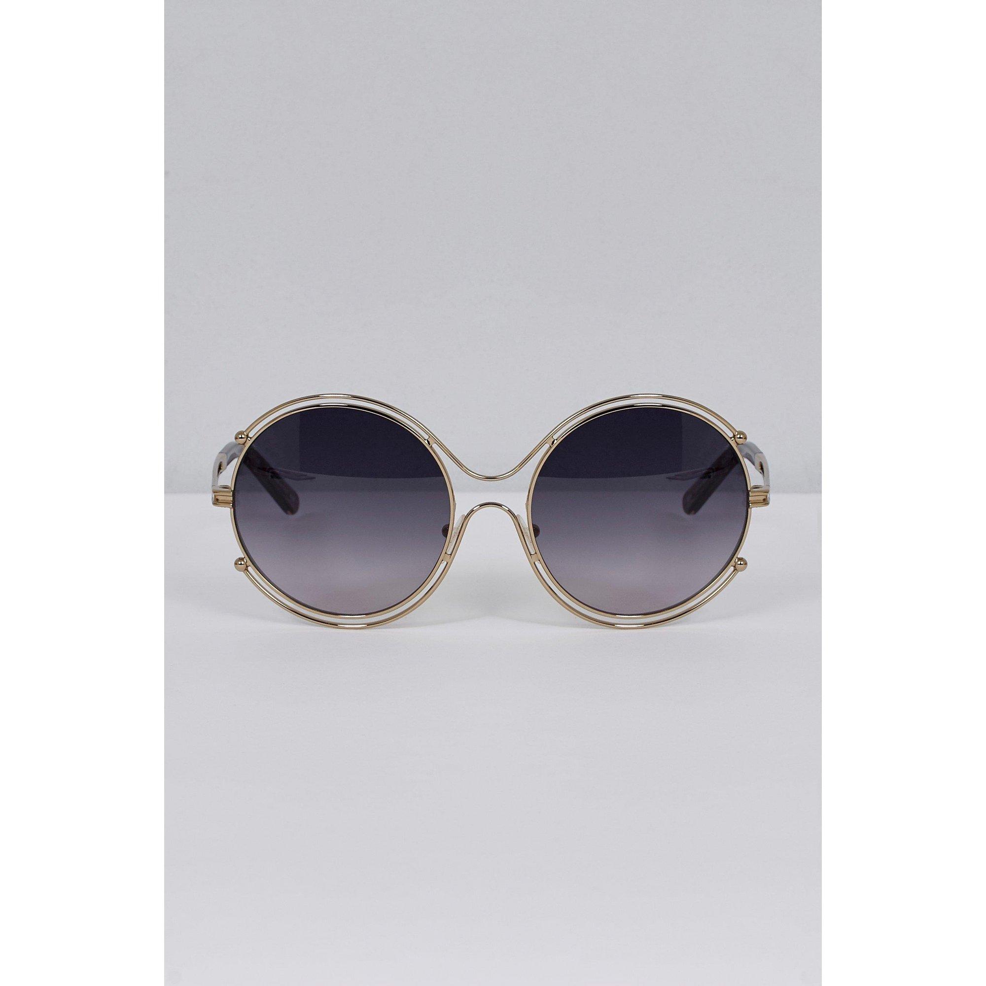 Image of Chloe Isidora Silver Oversized Sunglasses