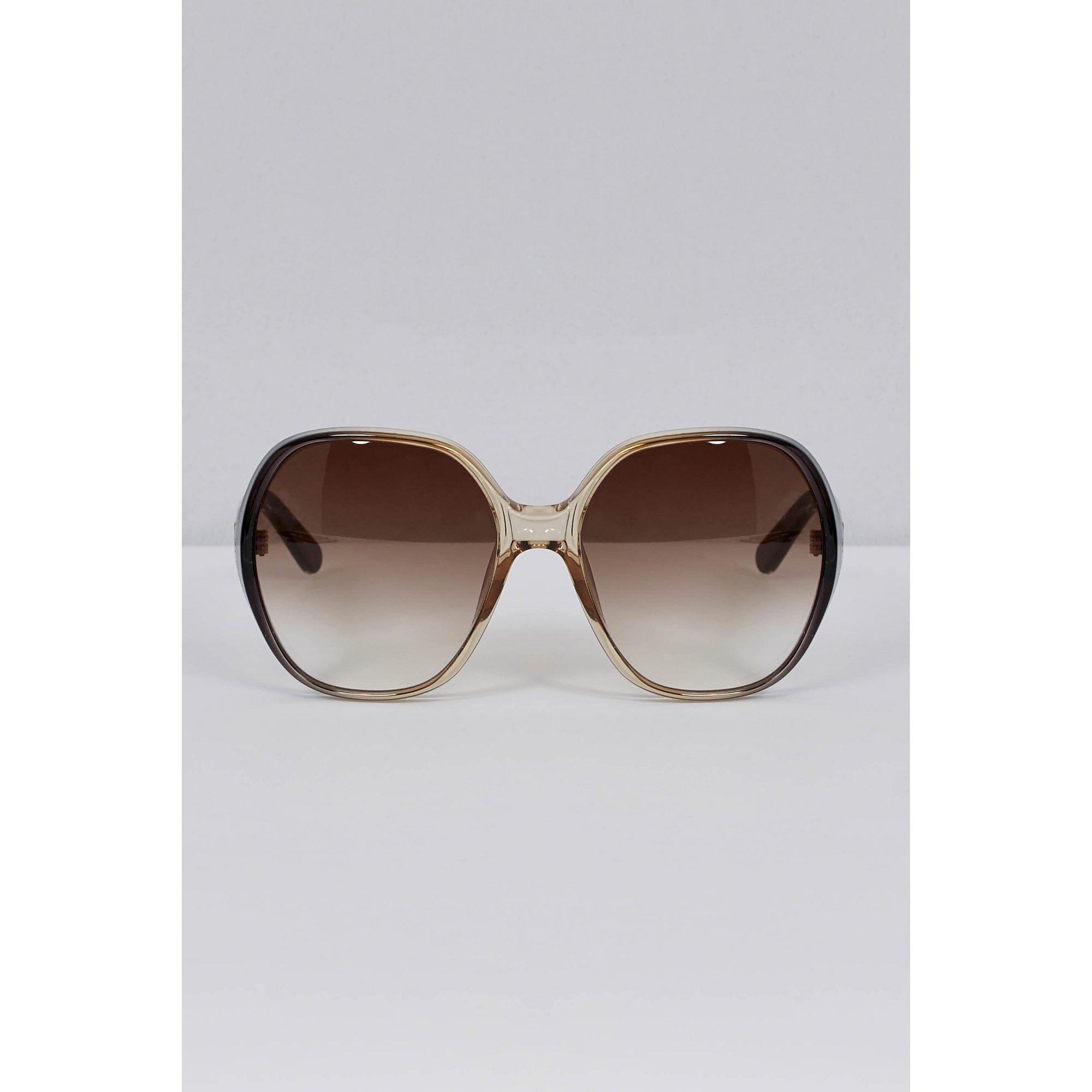 Image of Chloe Misha Black Oversized Sunglasses
