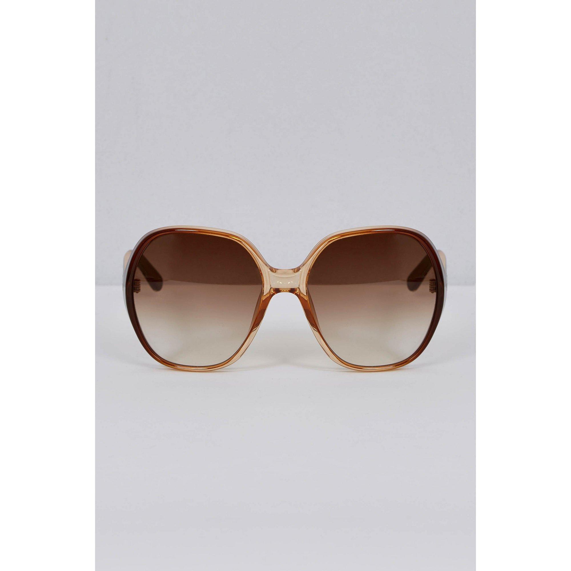Image of Chloe Misha Oversized Tortoise Shell Sunglasses