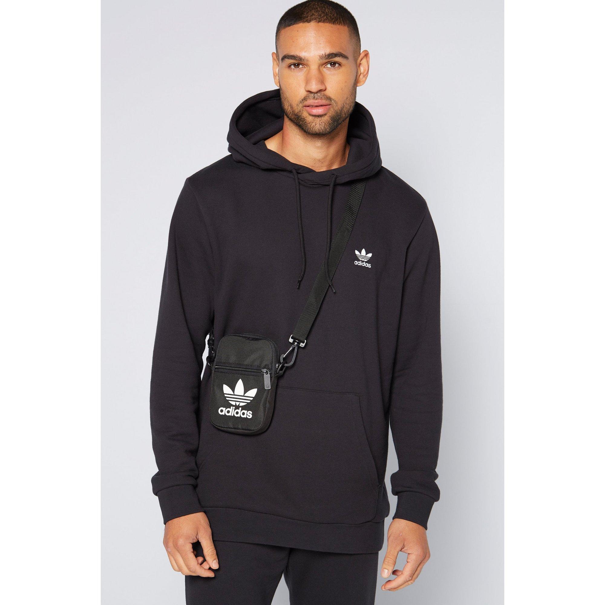 Image of adidas Originals Trefoil Herringbone Black Cross Body Bag