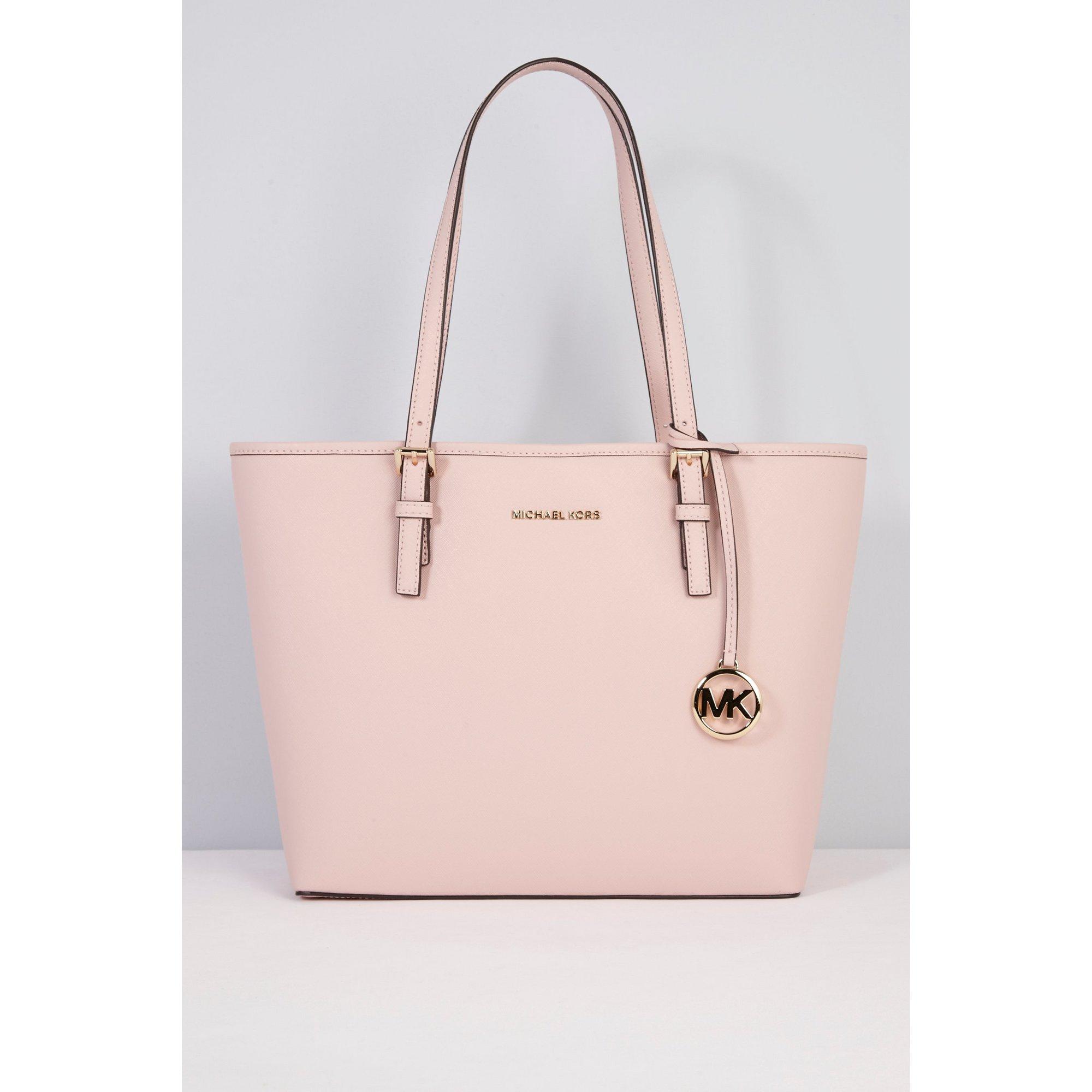 Image of Michael Kors Carry All Blossom Leather Handbag