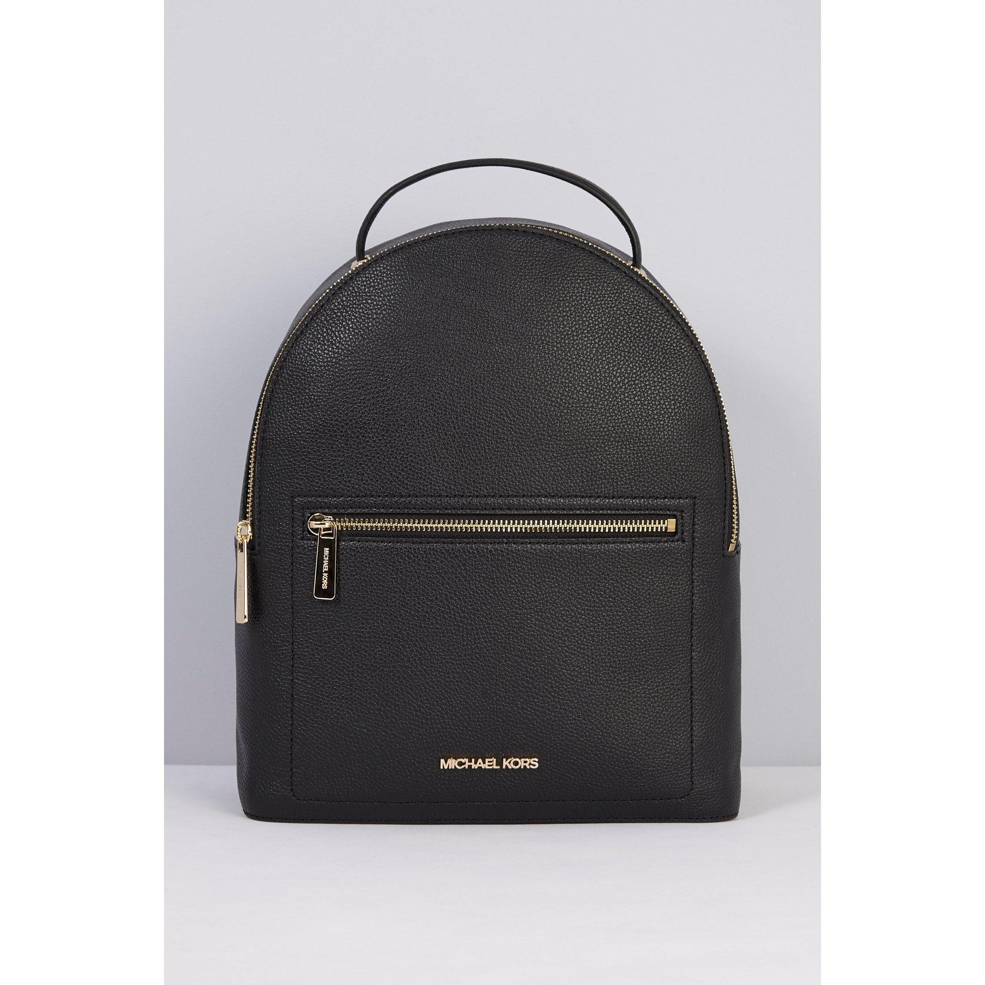 Image of Michael Kors Jessa Black Leather Backpack