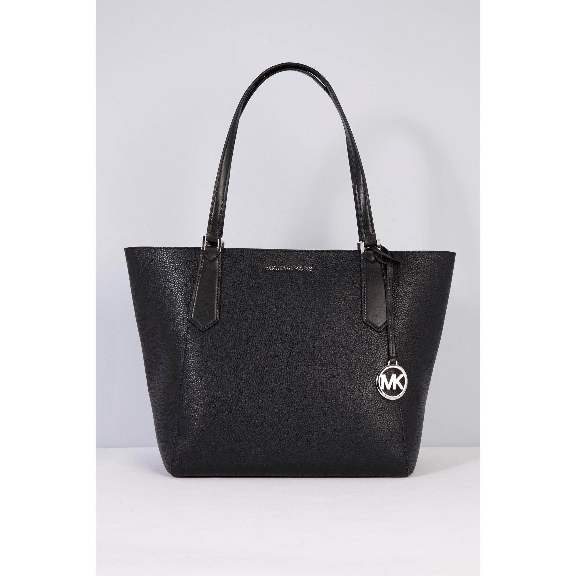 Image of Michael Kors Black Kimberly Leather Tote Bag