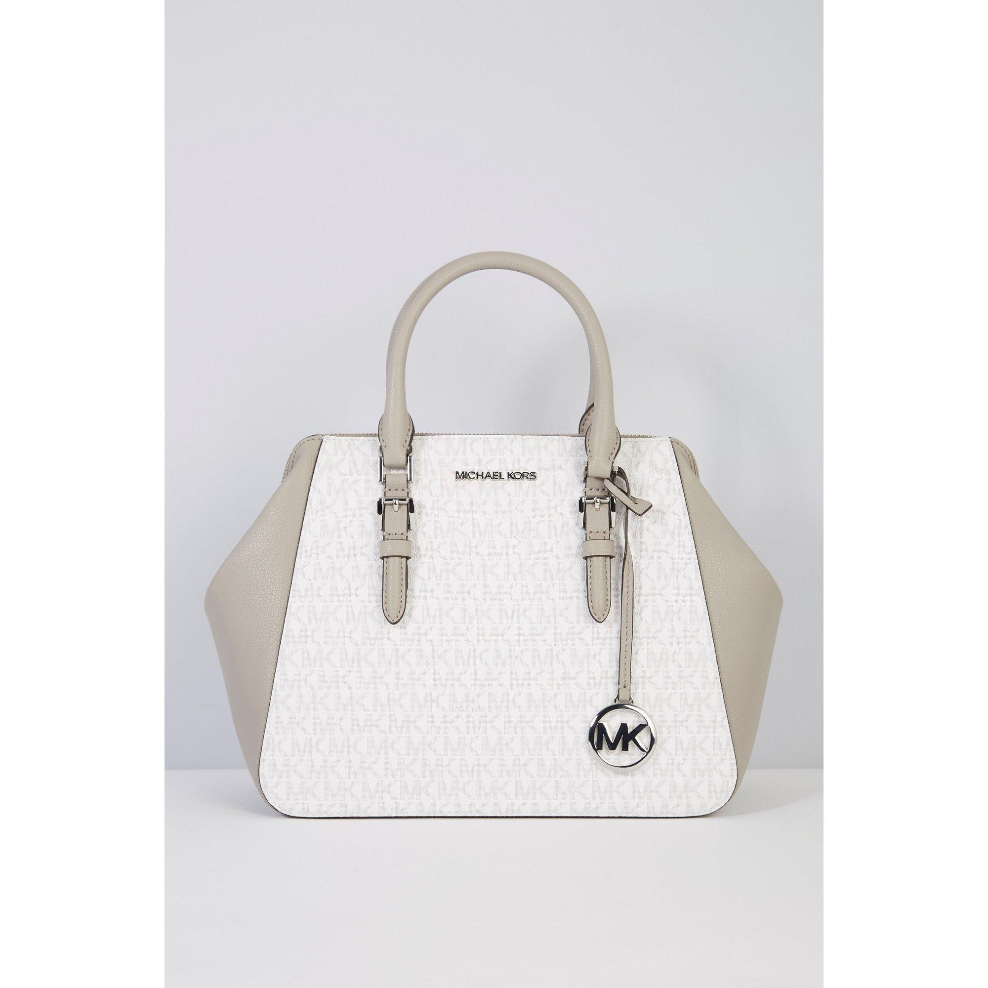 Image of Michael Kors Charlotte Large Leather Satchel Bag