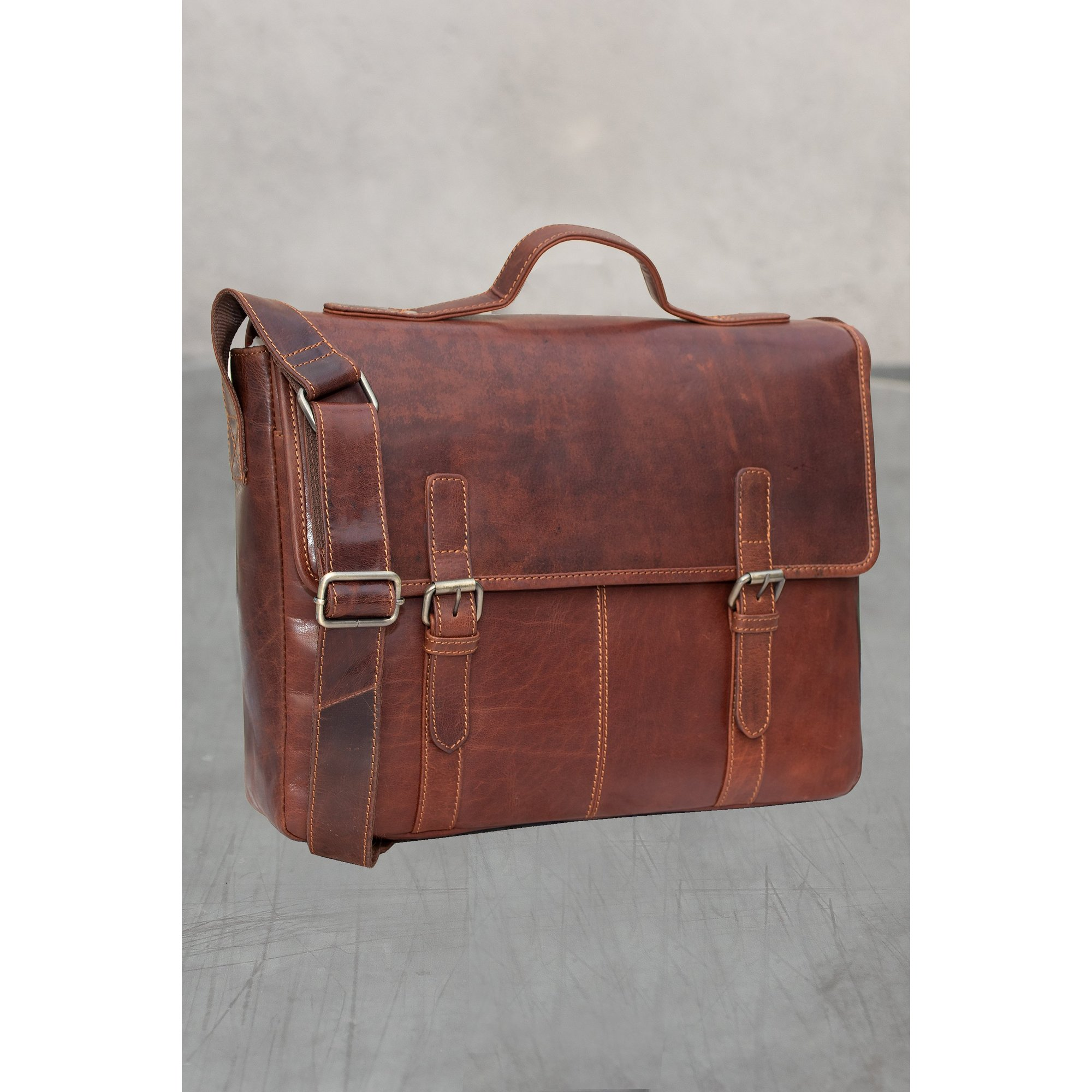 Image of Firelog Leather Briefcase