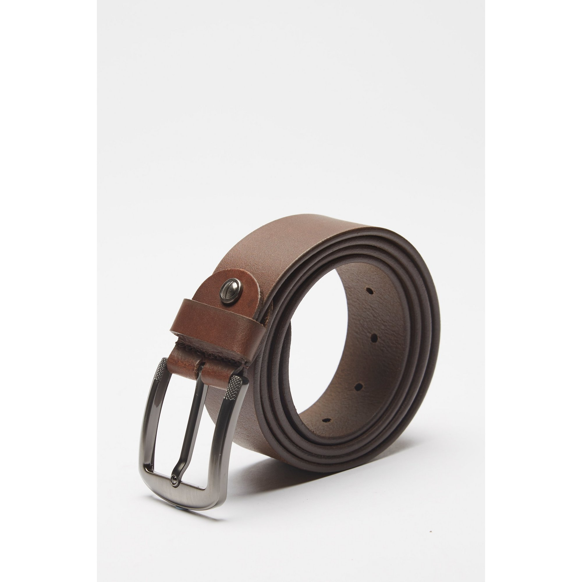Image of Firelog Leather Flat Buckle Belt