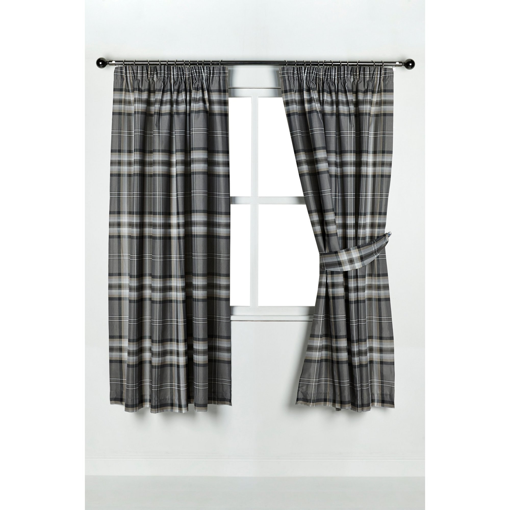 Image of Catherine Lansfield Kelso Pencil Pleat Curtains
