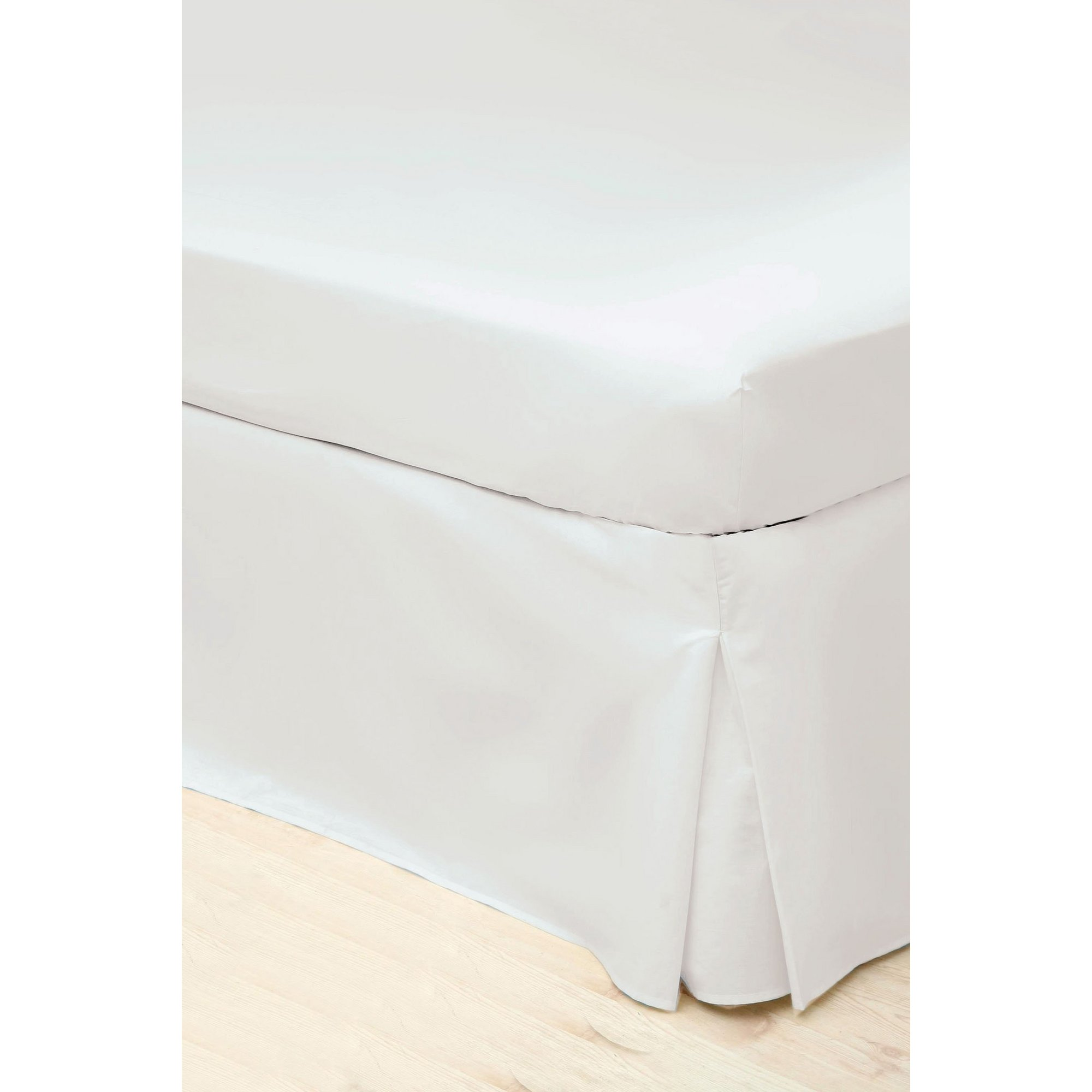 Image of 200 Count Percale Platform Pleated Valance Sheet