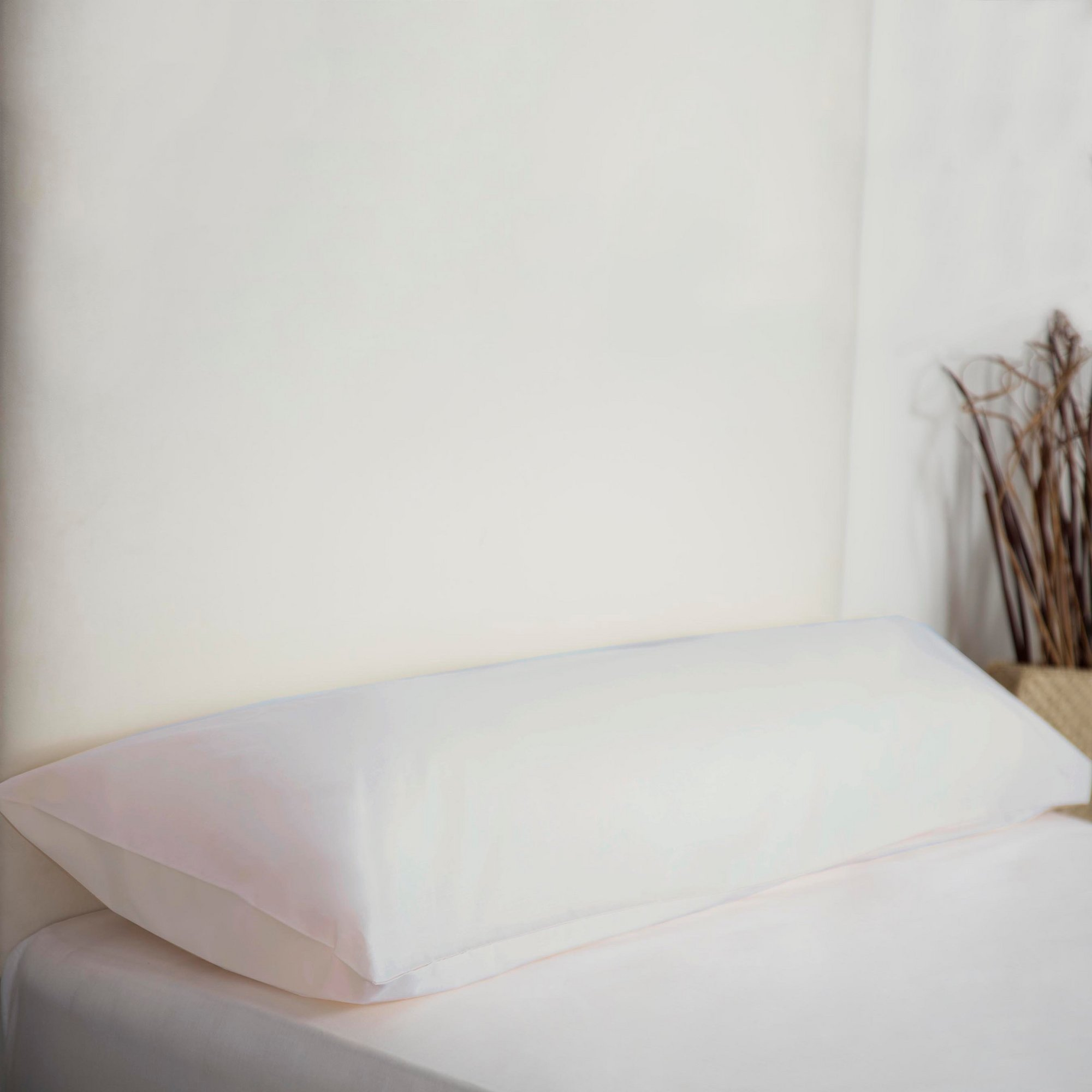 Image of 200 Count Percale Bolster Pillowcases