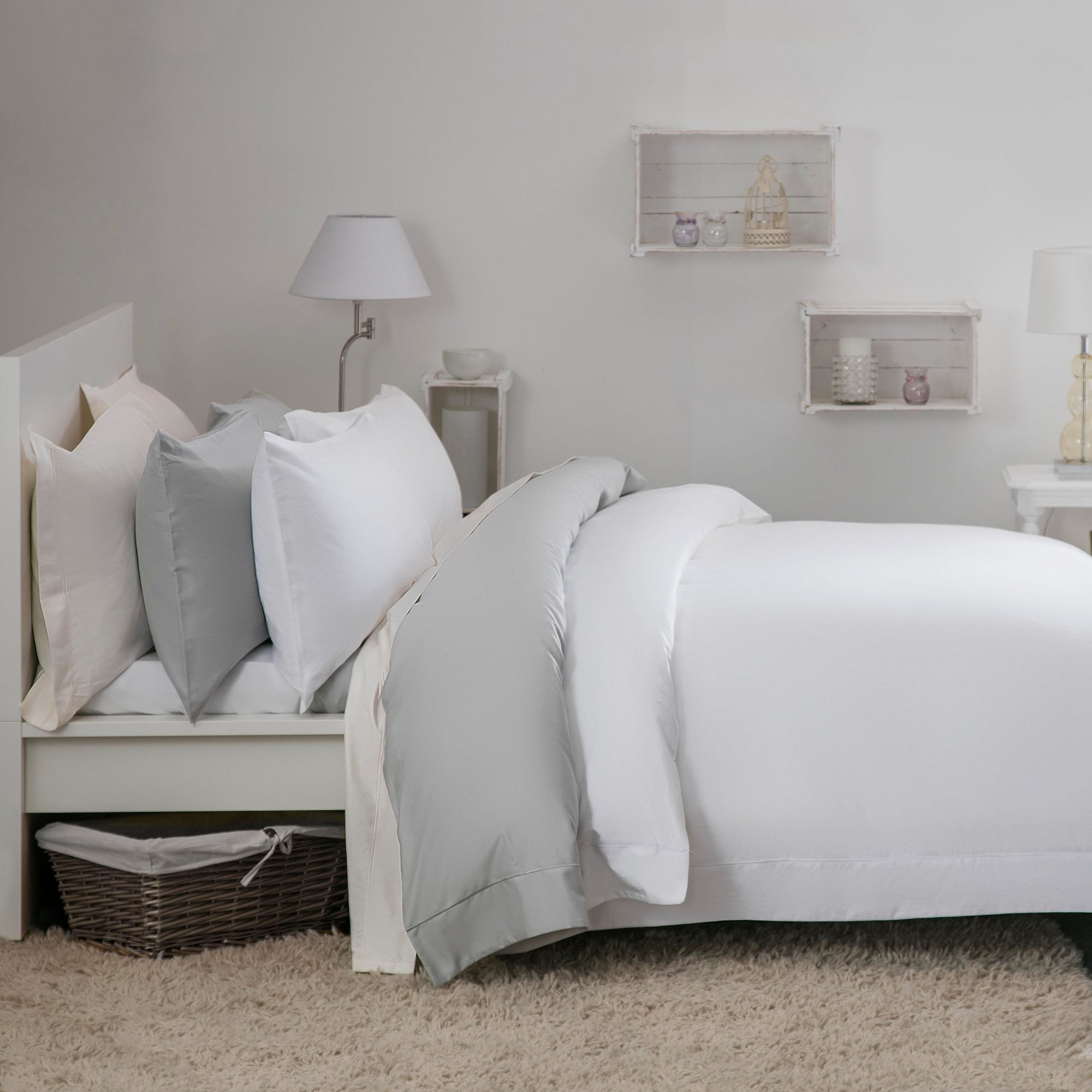 Image of Belledorm Egyptian Cotton 30cm Fitted Sheet