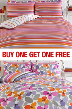 Searra Stripe BOGOF Duvet Set