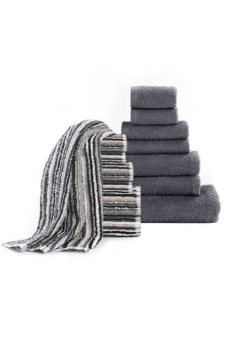 33947443 Image for Linea Stripe 7 + 7-Piece Towel Bale Offer from studio