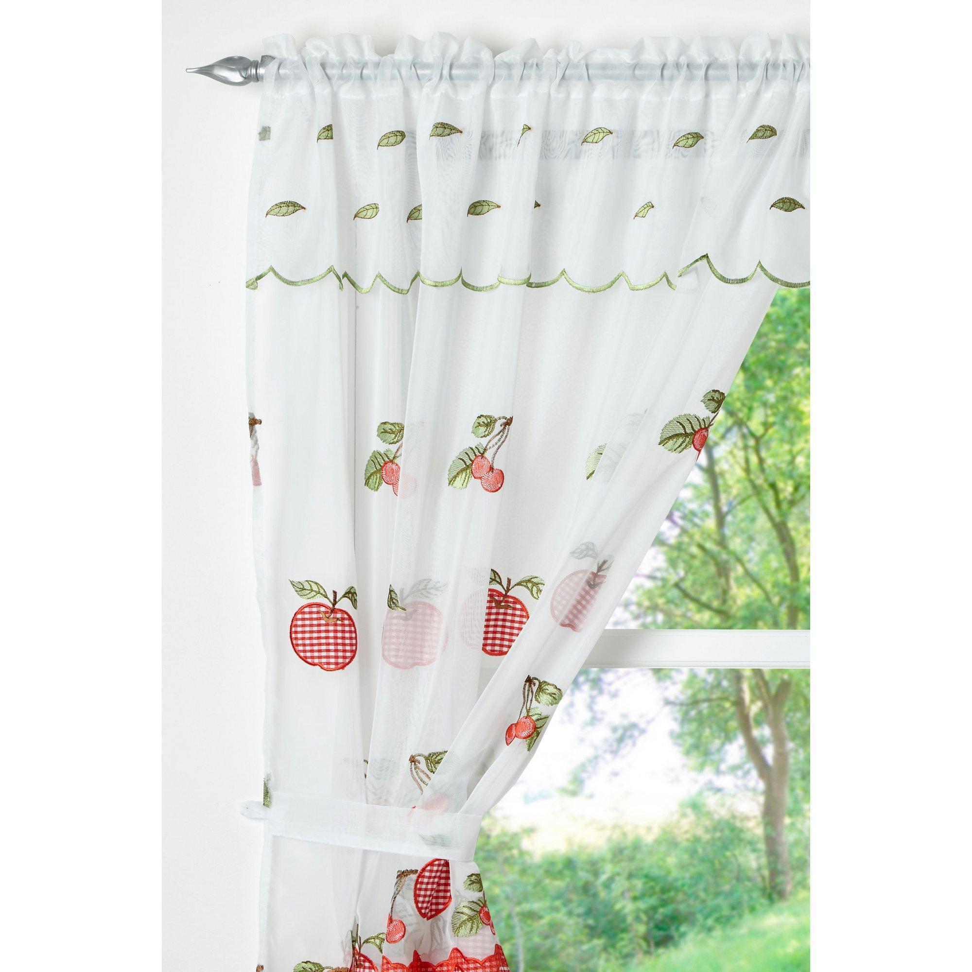 Image of Apple Gingham Net Curtain Set