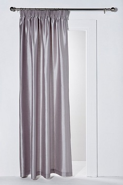 Faux Silk Pencil Pleat Door Curtain