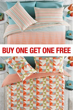 Chance Stripe/Triangles Duvet Set BOGOF