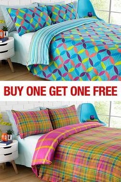 Lynx Check Duvet Set BOGOF
