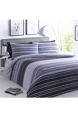 Classic Pieridae Textured Stripe Duvet Set