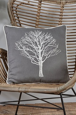 Woodland Trees Pair Of Cushion Covers