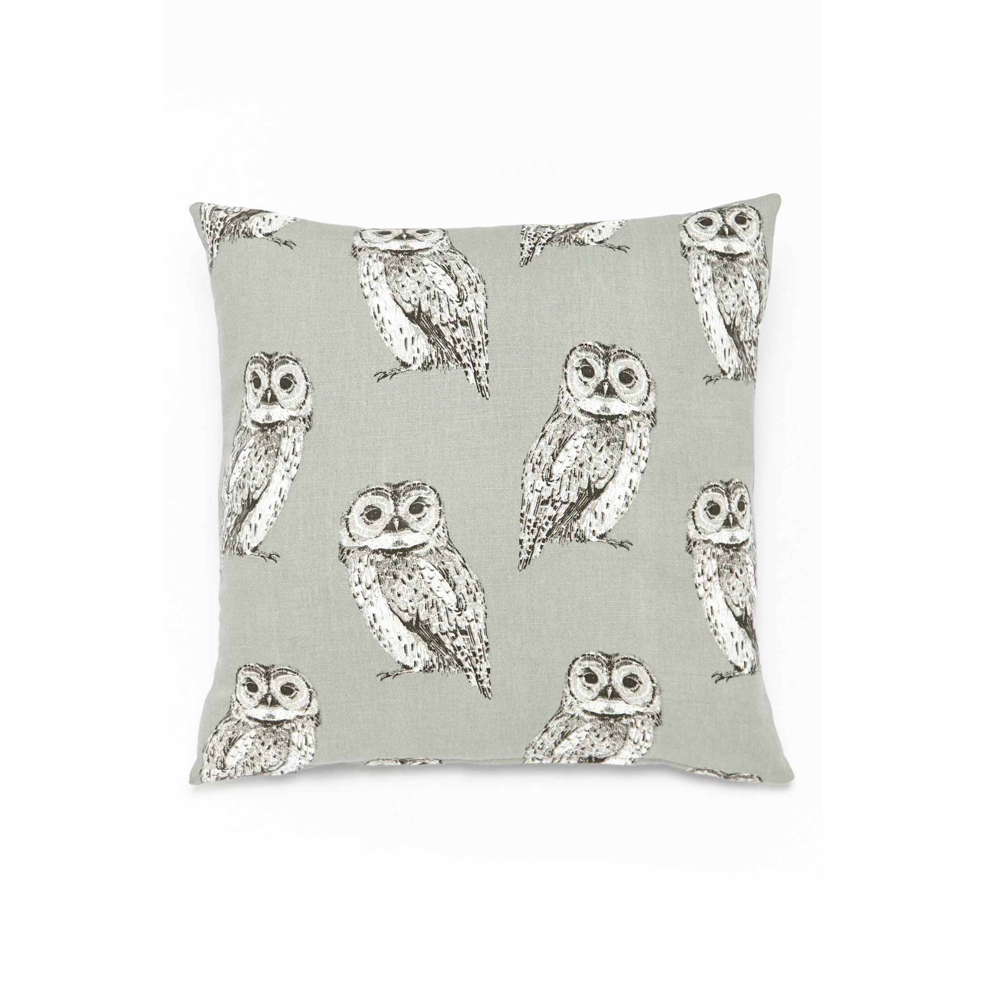 Image of Pair of Filled Owl Cushions