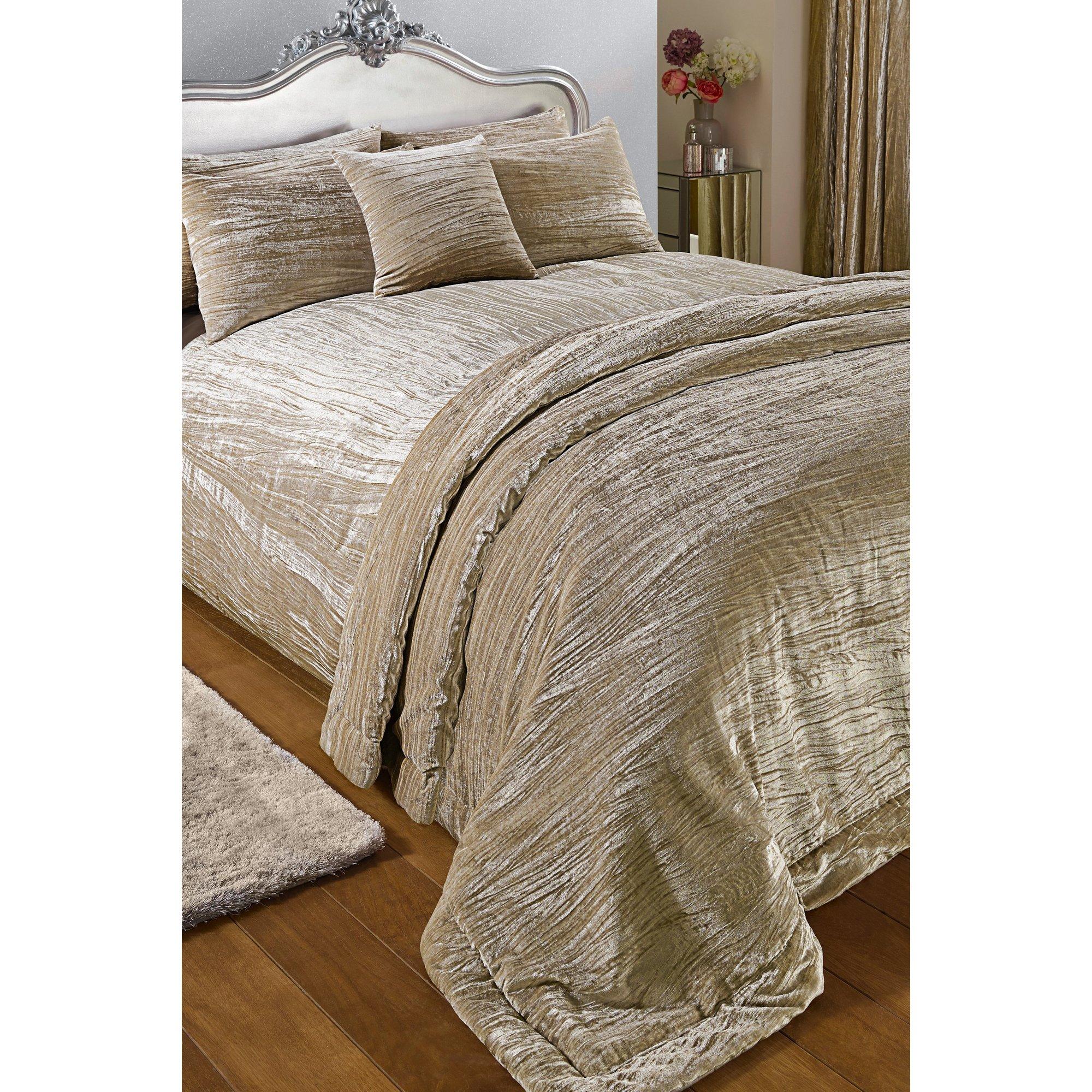 Image of Luxury Crinkle Velvet Double Duvet Set