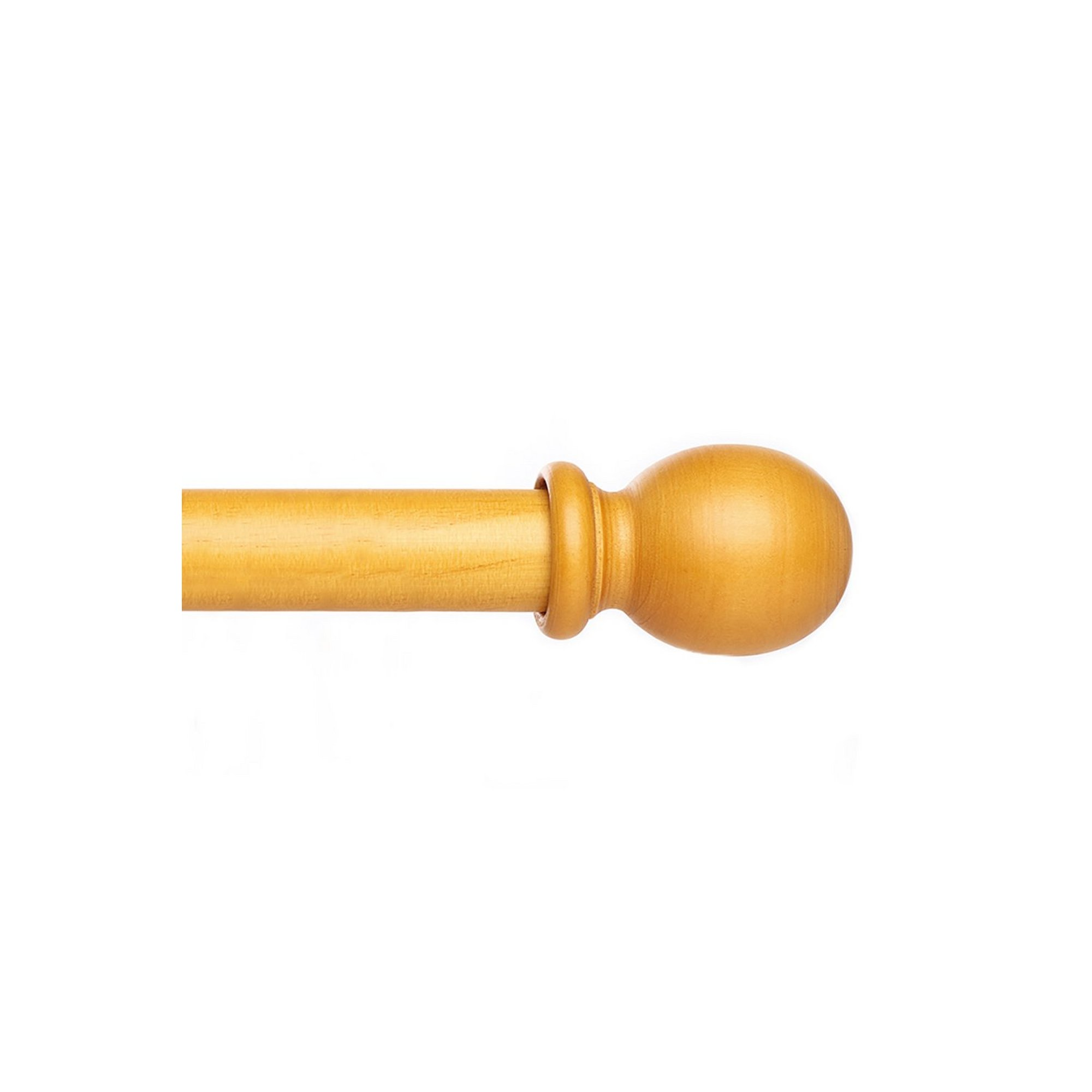 Image of Wooden Curtain Pole Set