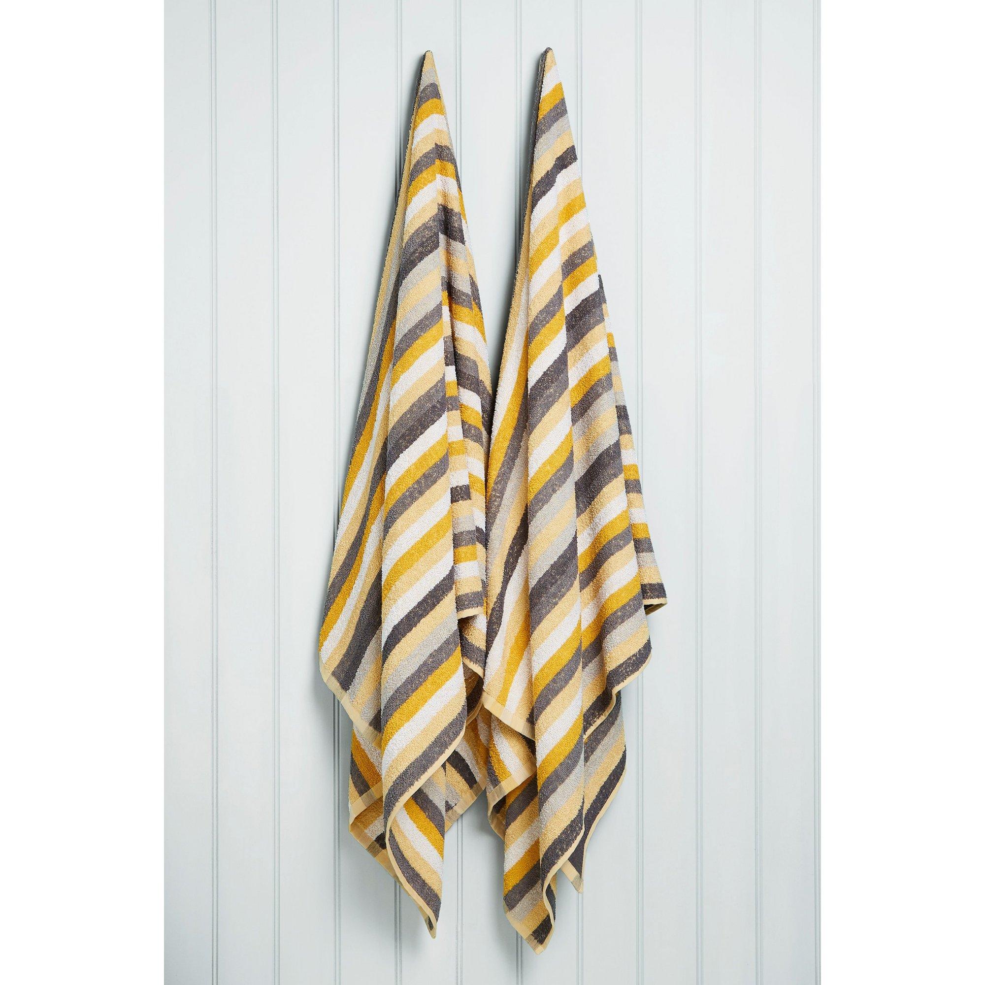Image of Kingsley Pair of Striped Jumbo Towels