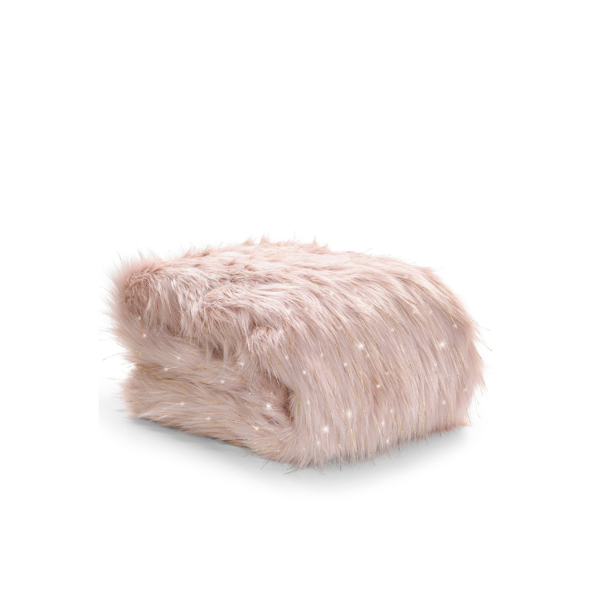 Image of Catherine Lansfield Metallic Fur Throw