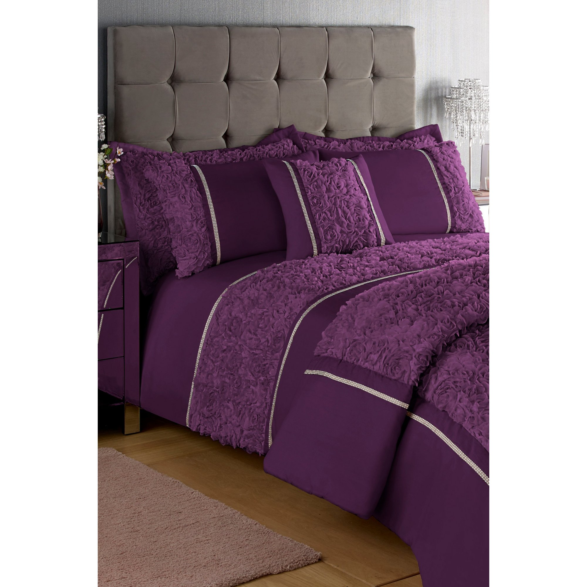 Image of 3D Pretty Floral Bedspread