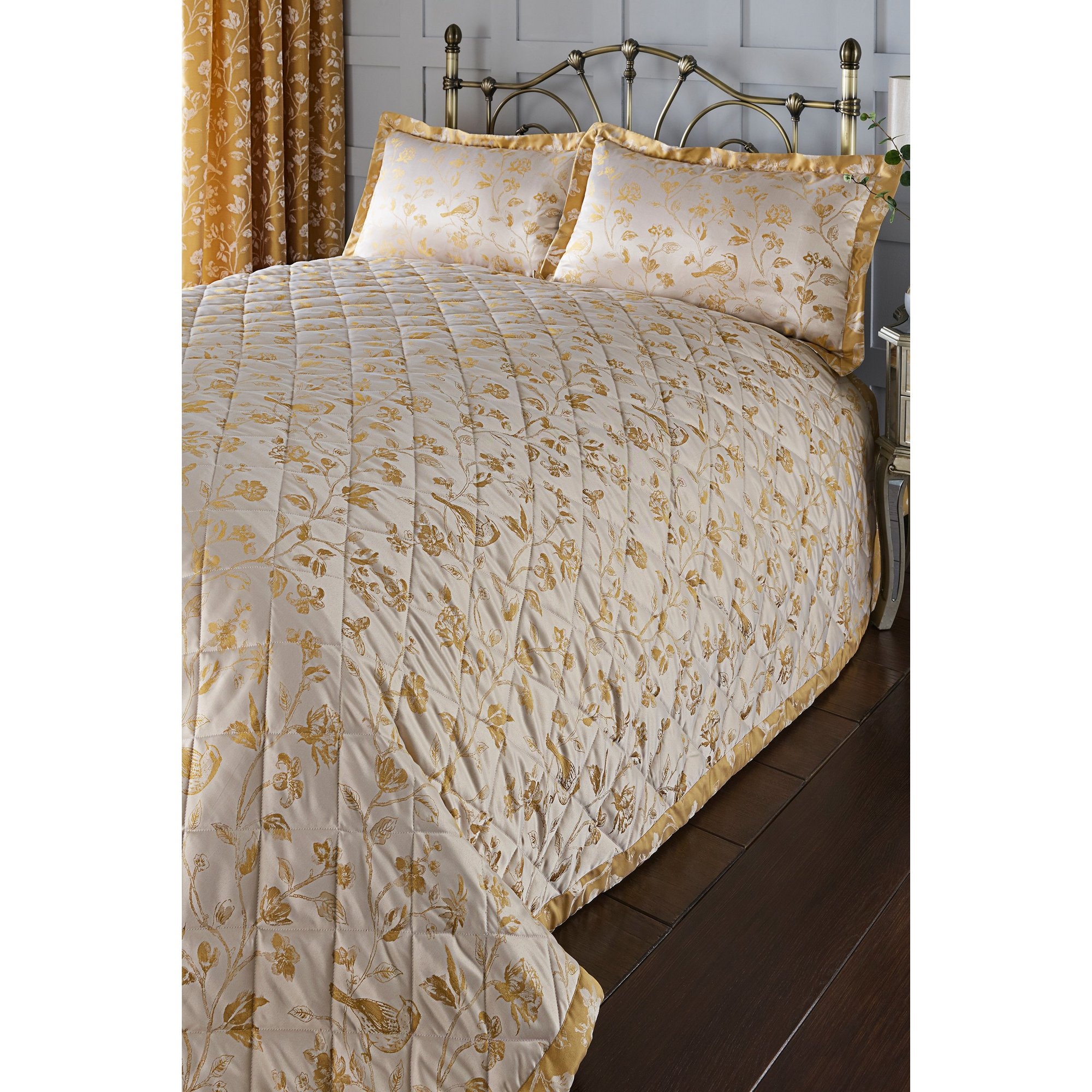Image of Bird and Blossoms Jacquard Bedspread