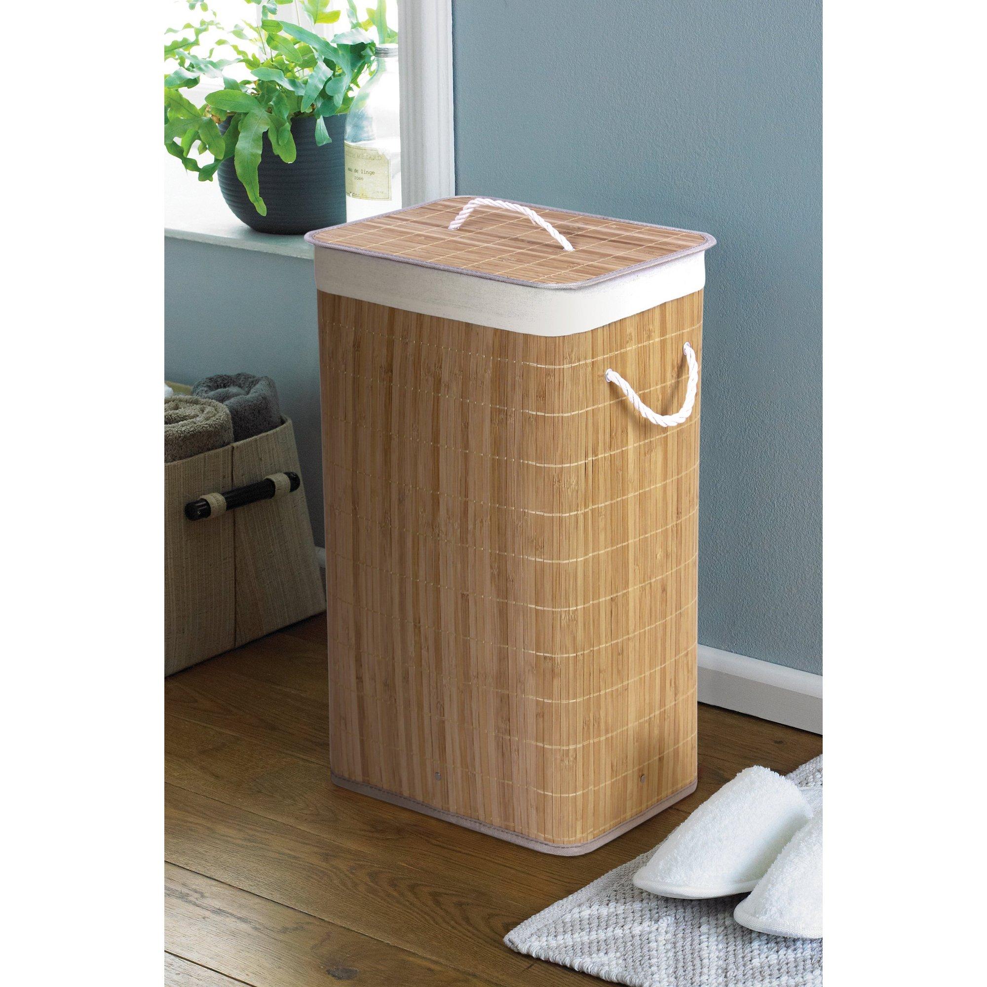 Image of Bamboo Laundry Basket