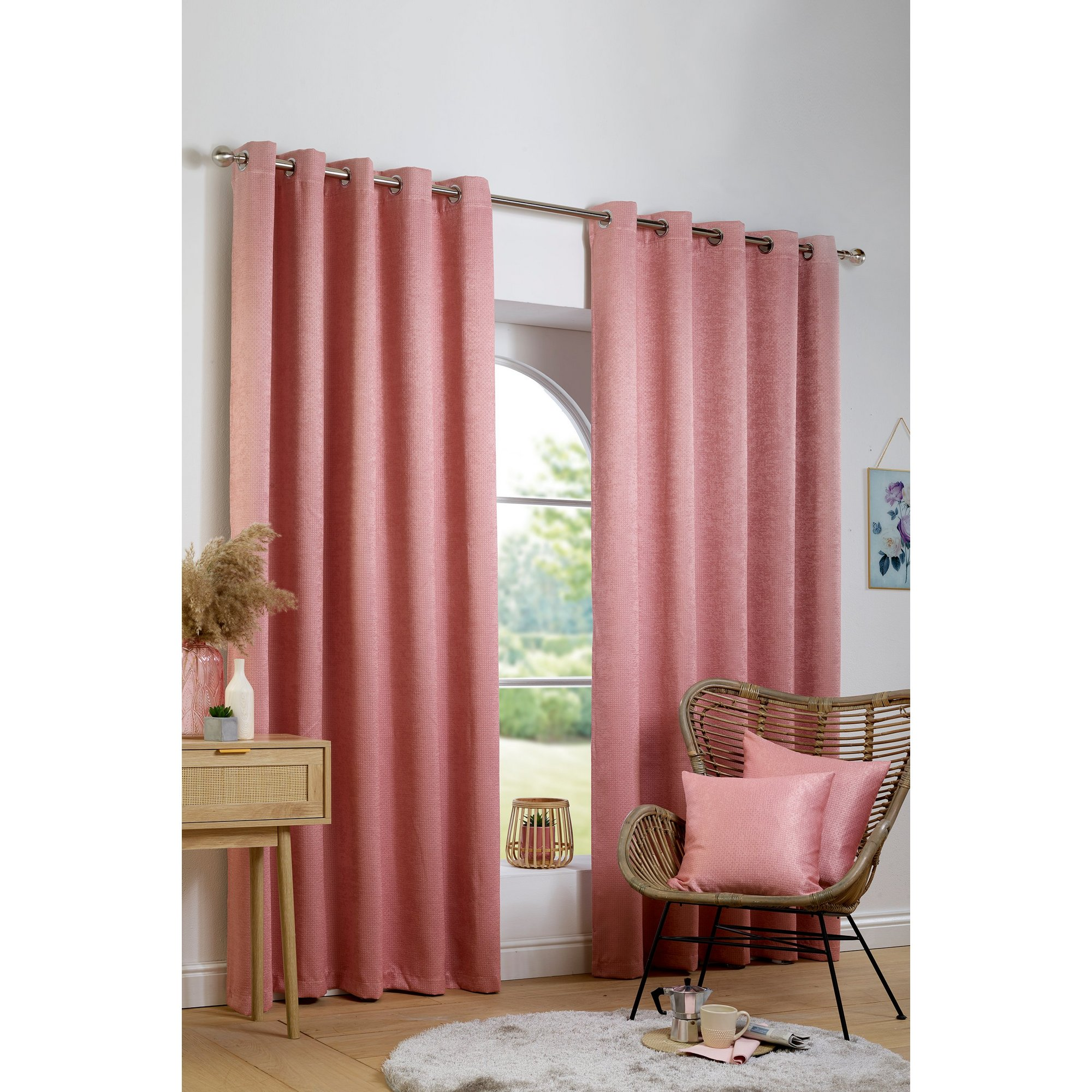 Image of Ambiance Thermal Woven Blockout Eyelet Curtains