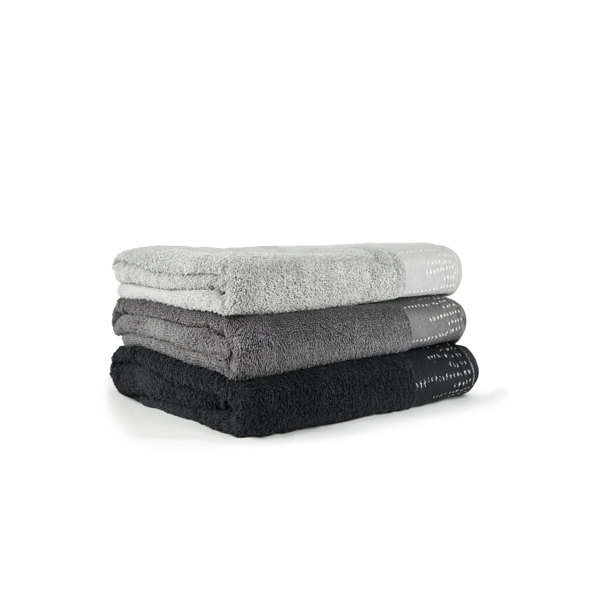 Image of Manhattan Towel with Metallic Border 4 Piece Bale