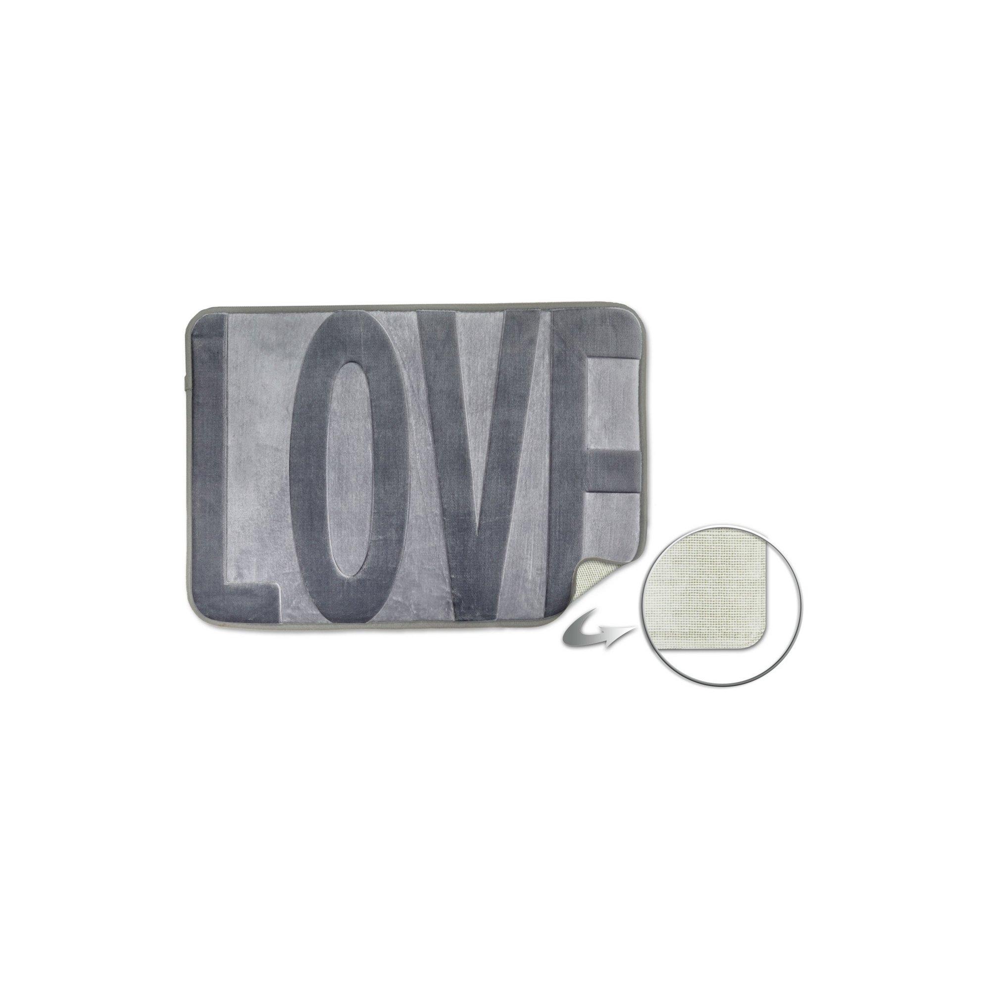 Image of Love Embossed Memory Foam Bathmat