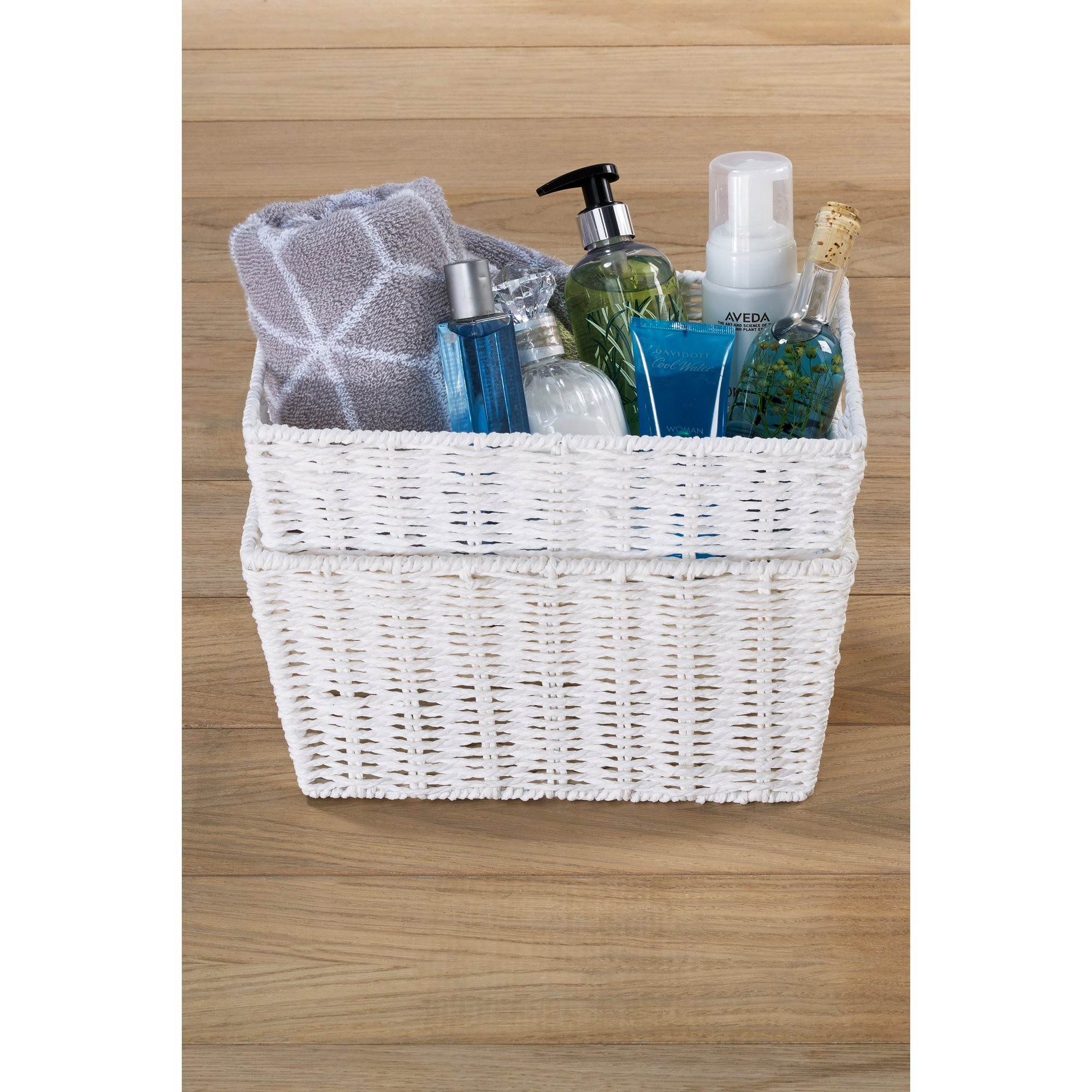Image of 2 Piece Bathroom Storage Baskets