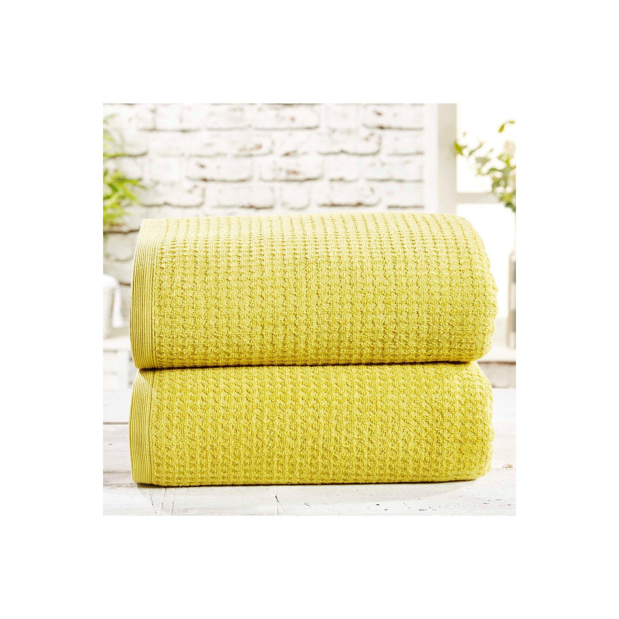 Image of 2 Piece Waffle Jumbo Towels