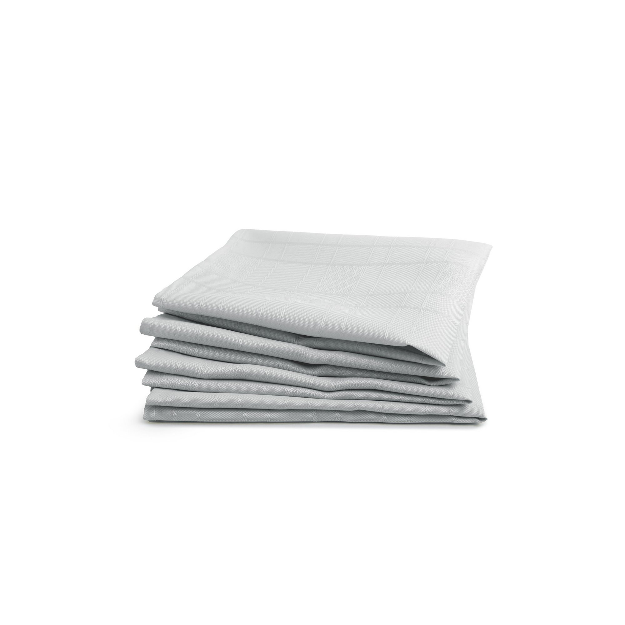 Image of Pack of 4 Chequers Jacquard Napkins