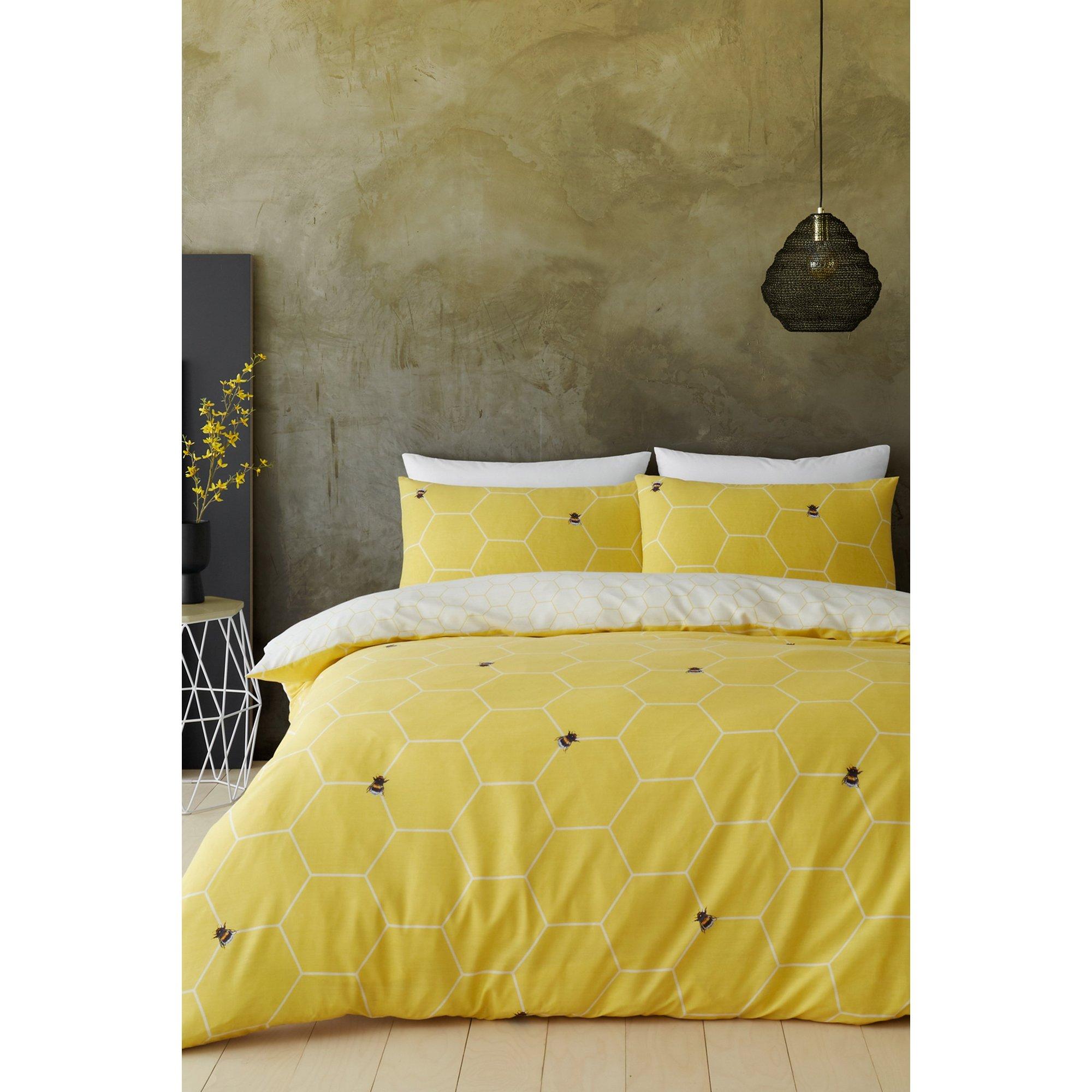 Image of Bee Happy Reversible Duvet Set