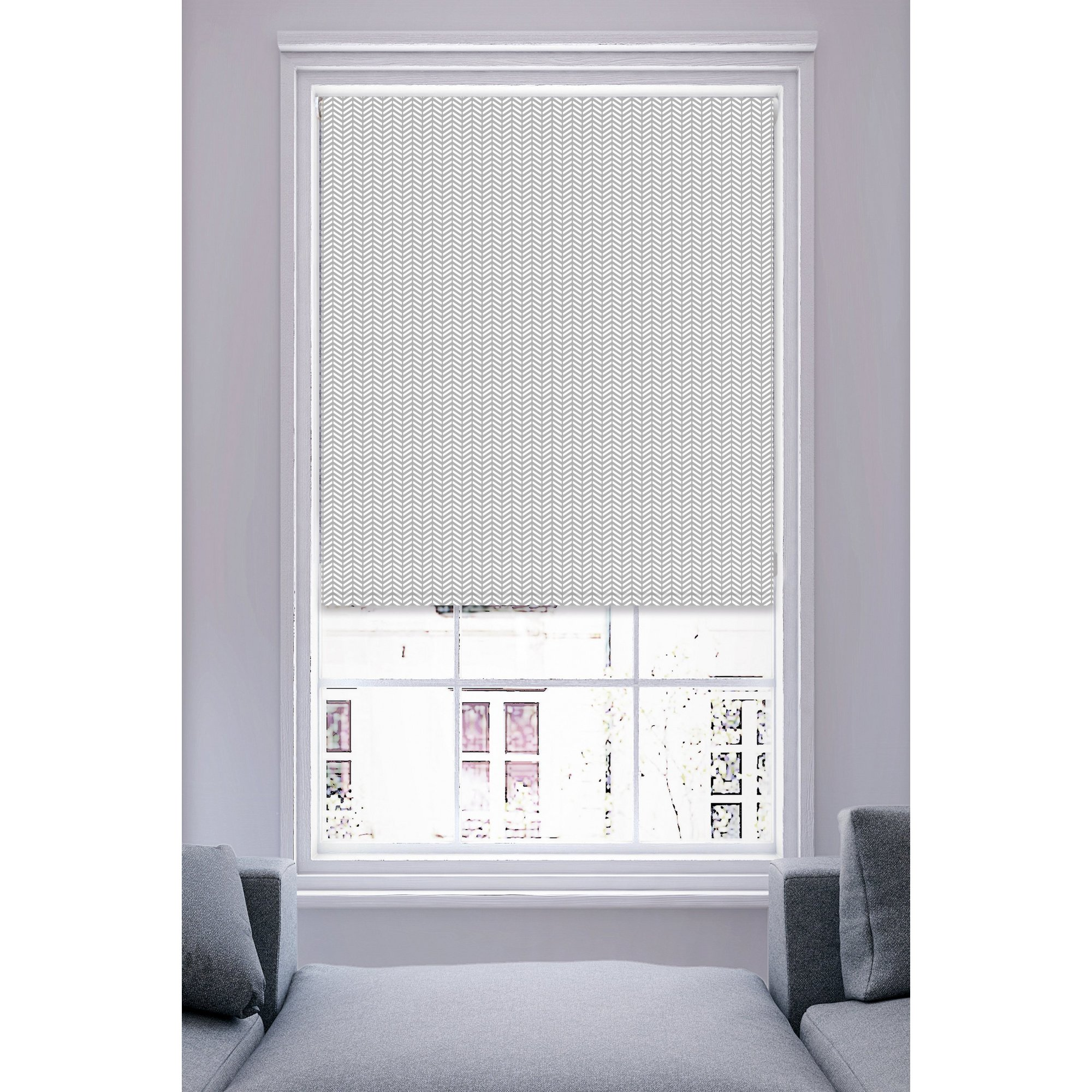 Image of Chevron Printed Roller Blind