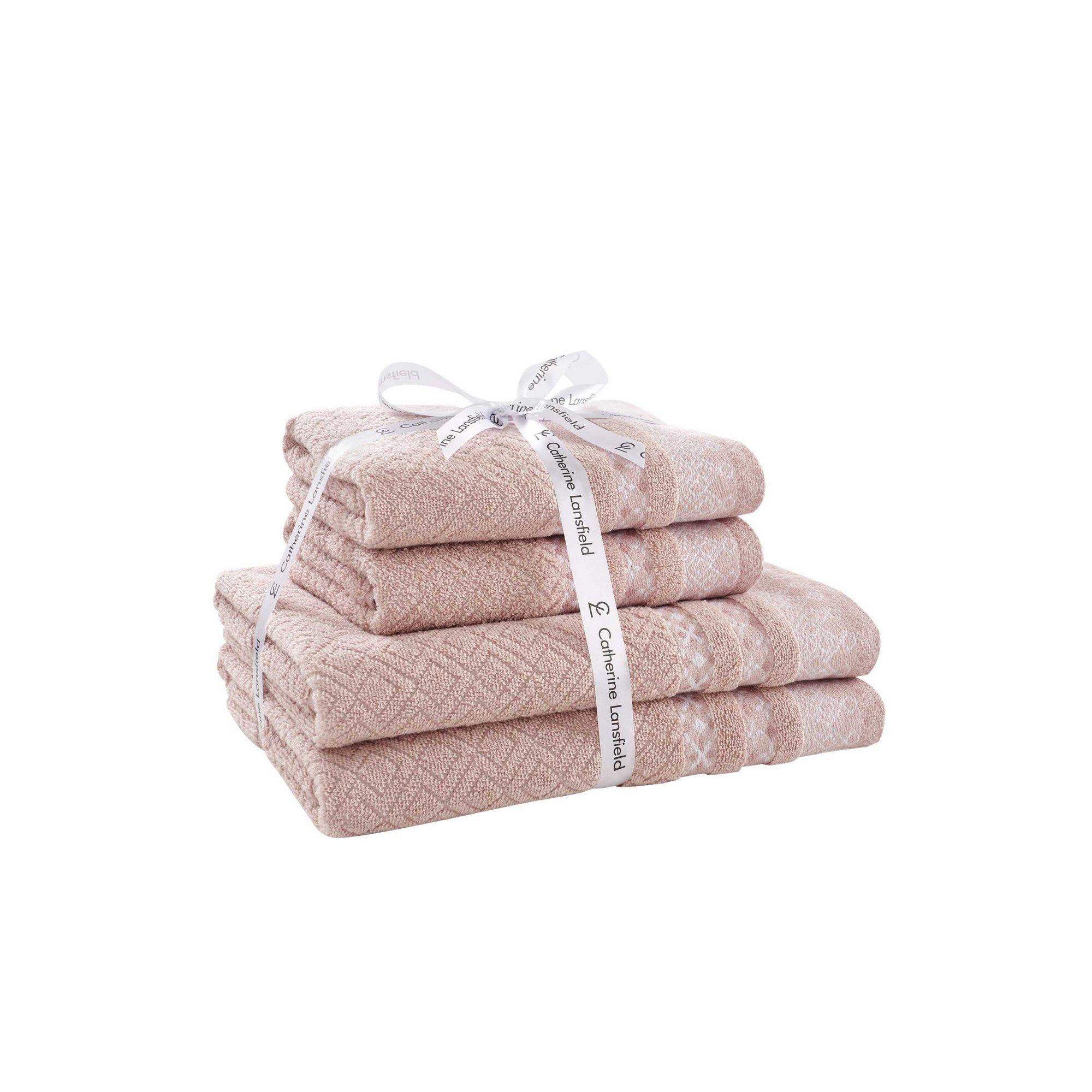 Image of Catherine Lansfield Malawa Geo Bands 4 Piece Towel Bale