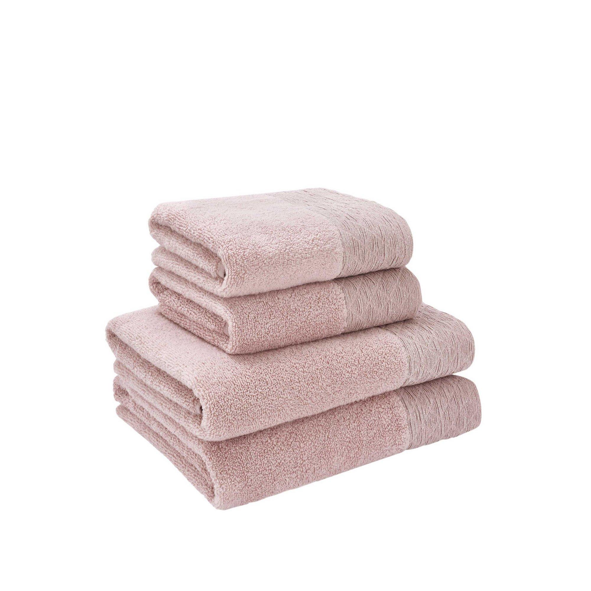 Image of Catherine Lansfield Zero Twist Sparkle 4 Piece Towel Bale