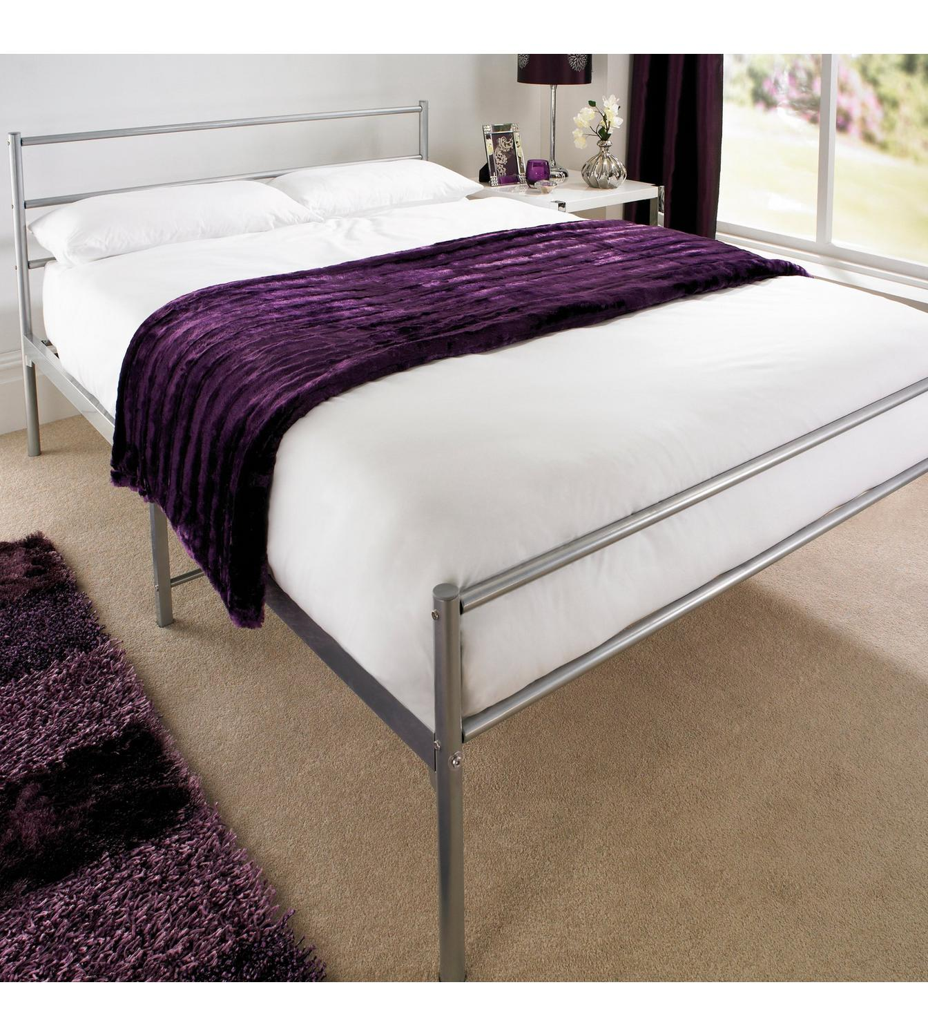 Image For Gemini Silver Bed  Without Mattress From Studio