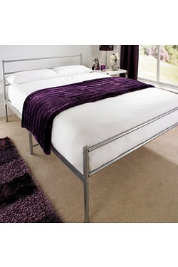 Gemini Silver Bed - Without Mattress