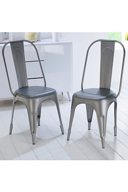 Vintage Style Metal Chairs