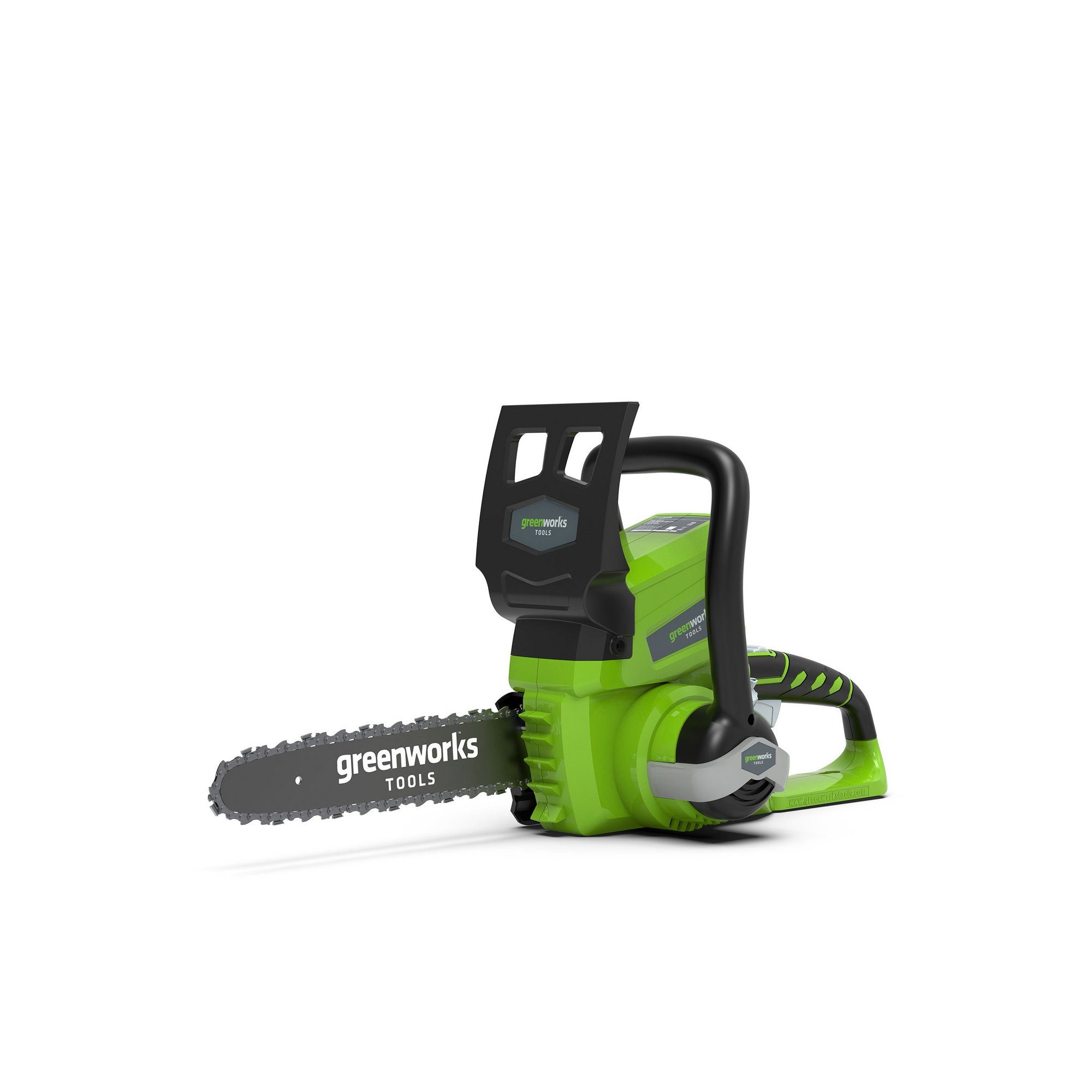 Image of Greenworks 24v 25cm Cordless Chainsaw with 2ah Battery and Charger