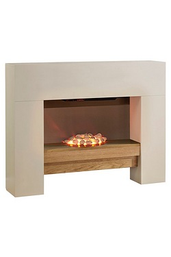 Beldray Manhattan Fire Suite With Wooden Shelf