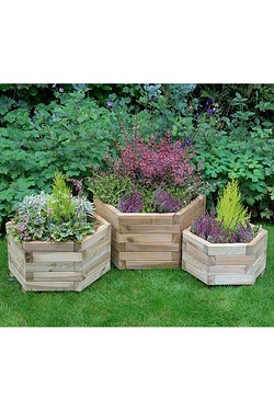 York Hexagonal Planter Set Of 3