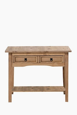 Mexican Pine 2 Drawer Console