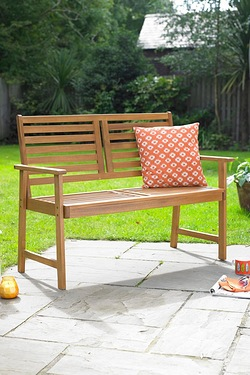 Cayman Wooden 2 Seater Bench