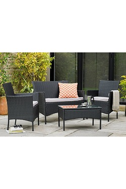 Malibu 4-Piece Rattan-Effect Set